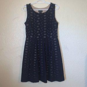 Enfocus Petite Blue Skater Dress Sz 10